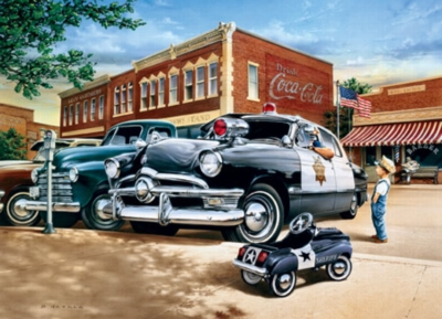 Policeman Dreams - 1000pc Jigsaw Puzzle by Masterpieces