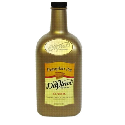 Davinci Gourmet Sauce: Pumpkin Pie - 64oz Plastic Bottle