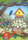 Birdhouse Daisies - Garden Flag by Toland