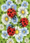 Flowers & Ladybugs - Garden Flag by Toland