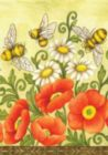 Bees & Wildflowers - Garden Flag by Toland