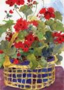 Geranium Basket - Garden Flag by Toland