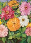 Vibrant Zinnias - Standard Flag by Toland