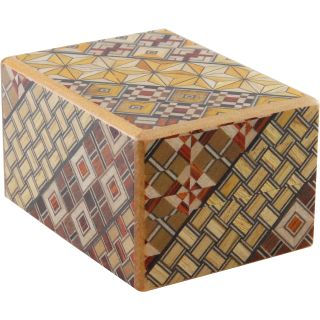 Wooden Puzzle Box - Japanese - .5 Sun, 12 Step: Koyosegi