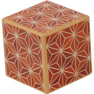 Wooden Puzzle Box - Japanese - Karakuri Small Box #1: Akaasa