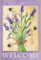 Lavender Welcome - Standard Flag by Toland