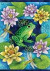 Frog & Waterlilies - Standard Flag by Toland