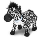 "Zulu (Plush / Pillow / Blanket) - 22"" Zebra by Zoobie Pets"