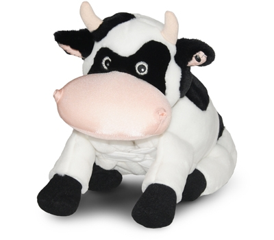 "Cookie (Plush / Pillow / Blanket) - 18"" Cow by Zoobie Pets"
