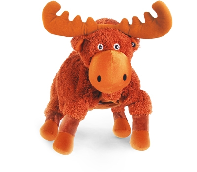 "Mudd (Plush / Pillow / Blanket) - 18"" Moose by Zoobie Pets"