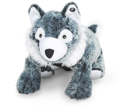"Wyatt (Plush / Pillow / Blanket) - 23"" Wolf by Zoobie Pets"