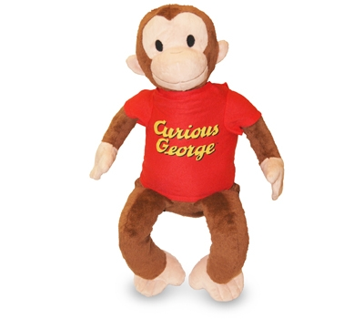 "Curious George (Plush / Pillow / Blanket) - 19"" Monkey by Zoobie Pets"