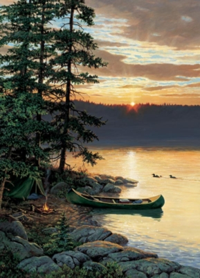 Canoe Lake - 1000pc Jigsaw Puzzle by Cobble Hill