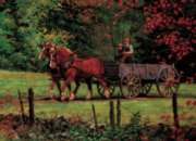 Autumn Ride - 1000pc Jigsaw Puzzle by Cobble Hill