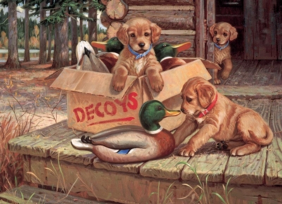 Doggie Decoys - 1000pc Jigsaw Puzzle by Cobble Hill