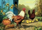 Country Chickens - 1000pc Jigsaw Puzzle by Cobble Hill