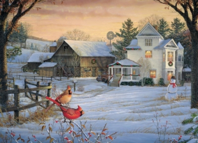 Cobble Hill Jigsaw Puzzles - Countryside Cardinals