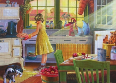 Cobble Hill Jigsaw Puzzles - Apple Pie Kitchen - Large