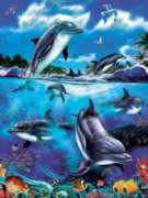 Dolphin Family - 400pc Family Style Jigsaw Puzzle by Cobble Hill