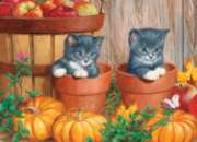 Pumpkin Kittens - 180pc Jigsaw Puzzle by Cobble Hill
