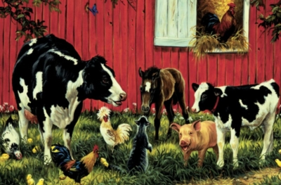 Animal Farm - 60pc Jigsaw Puzzle by Cobble Hill