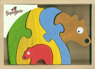 Bear Family - 5pc EcoFriendly Wooden Puzzle by BeginAgain Toys