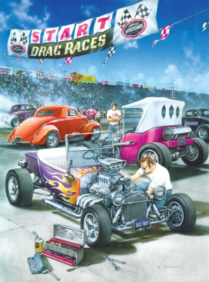 Classics: Hot Rod Racing - 500pc Jigsaw Puzzle in Tin by Masterpieces