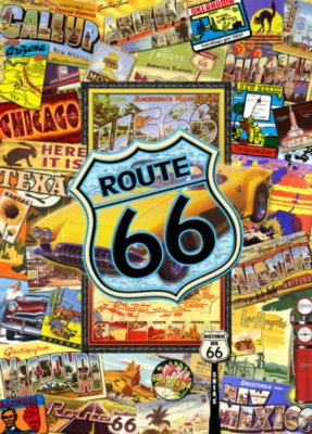 Route 66 - 1000pc Suitcase Jigsaw Puzzle by Masterpieces