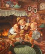 The Three Little Pigs - 1000pc Story Book Box Jigsaw Puzzle by Masterpieces