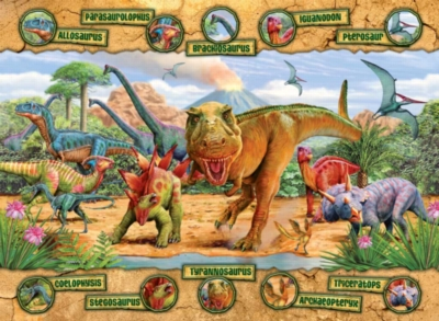 Dinosaurs - 100pc Jigsaw Puzzle by Ravensburger