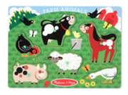 Farm Animals - 6pc Wooden Peg Puzzle by Melissa & Doug