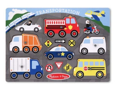 Transportation - 6pc Wooden Peg Puzzle by Melissa & Doug