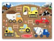 Construction Site - 6pc Wooden Peg Puzzle by Melissa & Doug