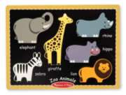 Zoo Animals - 6pc Chunky Wood Puzzle by Melissa & Doug