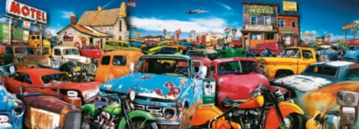 Velo City Limits - 700pc Panoramic Jigsaw Puzzle by White Mountain