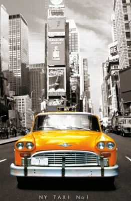 TAXI NO. 1, NEW YORK - 1000pc Miniature Jigsaw Puzzle By Educa