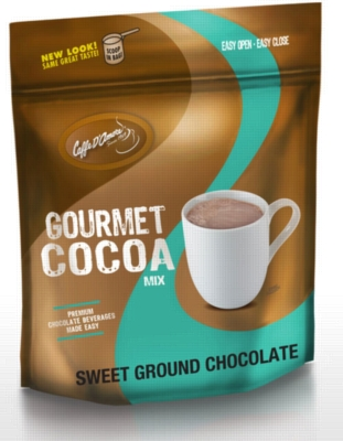 Caffe D'Amore Premium Sweet Ground Chocolate & Cocoa Mix - 3 lb. Bulk Bag