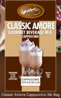 Caffe D'Amore Classic Amore Cappuccino Mix - 3 lb. Bulk Bag Assorted Case