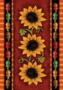Sunflower Trio - Garden Flag by Toland
