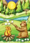 Camping Bear - Garden Flag by Toland