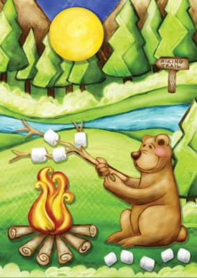 Camping Bear - Standard Flag by Toland