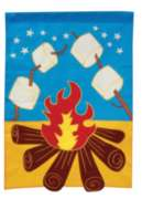 Campfire - Garden Applique Flag by Toland