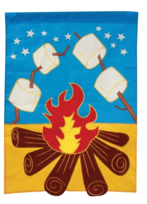Campfire - Standard Applique Flag by Toland