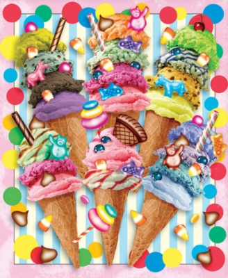 Ice Cream Candy Swirls - 550pc Jigsaw Puzzle by White Mountain