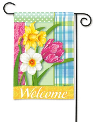 Spring Madras - Garden Flag by Magnet Works
