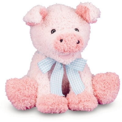 "Meadow Medley Piggy - 9"" Sitting Pig By Melissa & Doug"