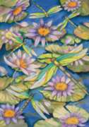 Waterlilies & Dragonflies - Standard Flag by Toland