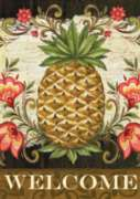 Pineapple & Scrolls - Garden Flag by Toland