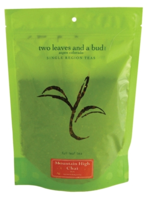 Two Leaves Tea: Organic Mountain High Chai - 1/2 lb. Loose Tea in a Resealable Sleeve