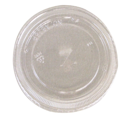 Dart - Flat Lid w\ Hole for 16 & 20oz, Clear, L24C, 1000/cs